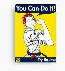 Try Jiu-Jitsu Canvas Print