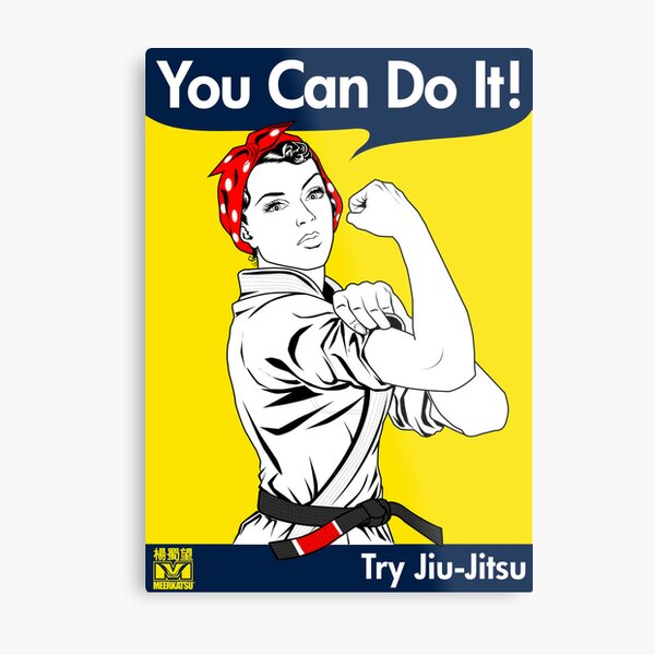 Try Jiu-Jitsu Metal Print