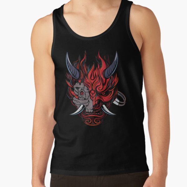 Cyberpunk Oni Demon Tank Top