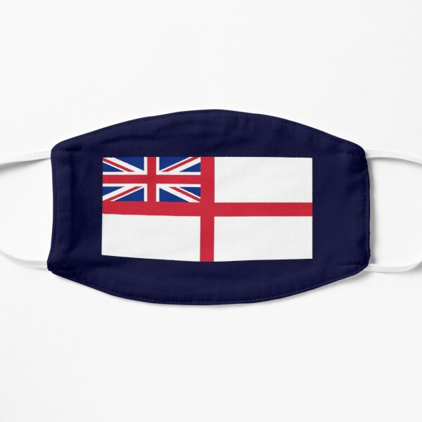 WHITE ENSIGN. Naval Ensign of the United Kingdom, The White Ensign or the St George's Ensign, used by the Royal Navy. On NAVY. Mask