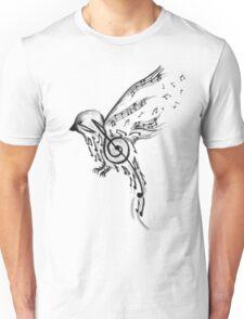 Musical bird  Unisex T-Shirt