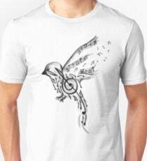 Camiseta unisex Pájaro musical