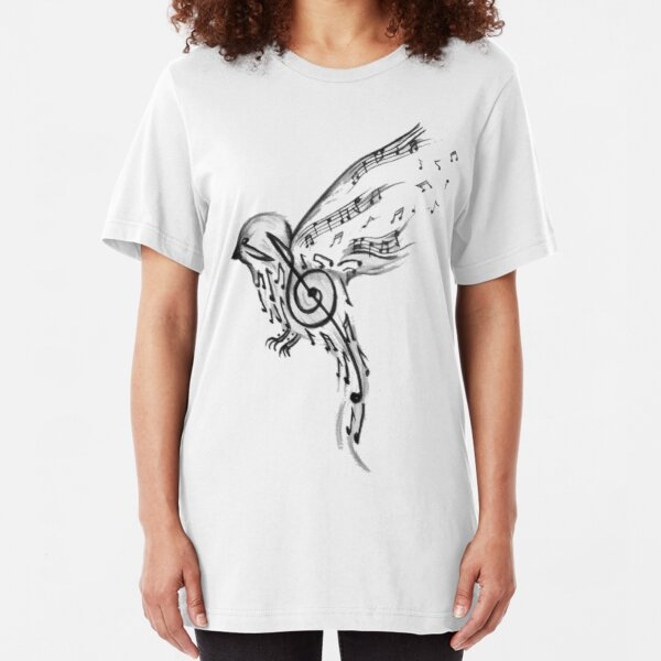 Musical bird  Slim Fit T-Shirt