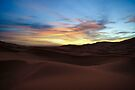 Sunrise in the Sahara - Morocco by Debbie Pinard