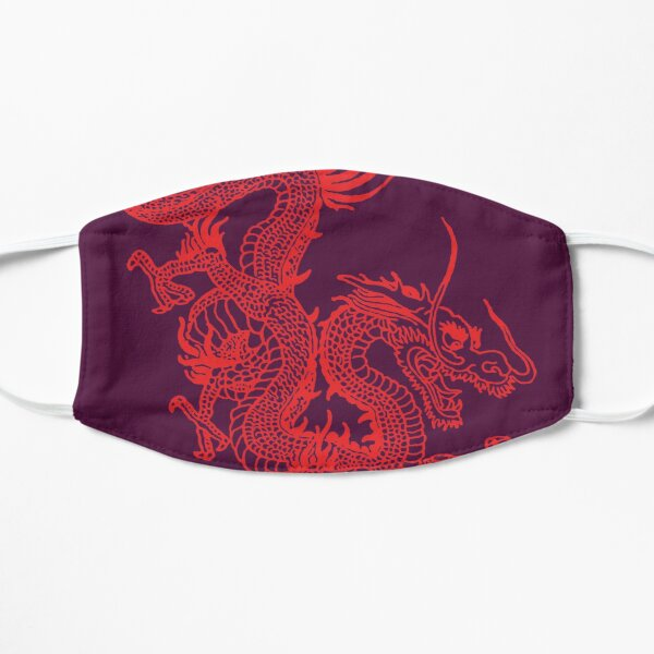 Red Chinese Dragon / Purple Background Mask