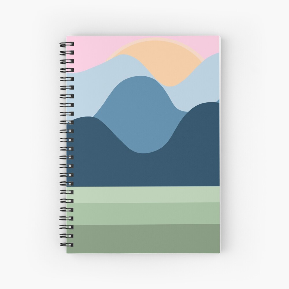The Blue Mountains Spiral Notebook
