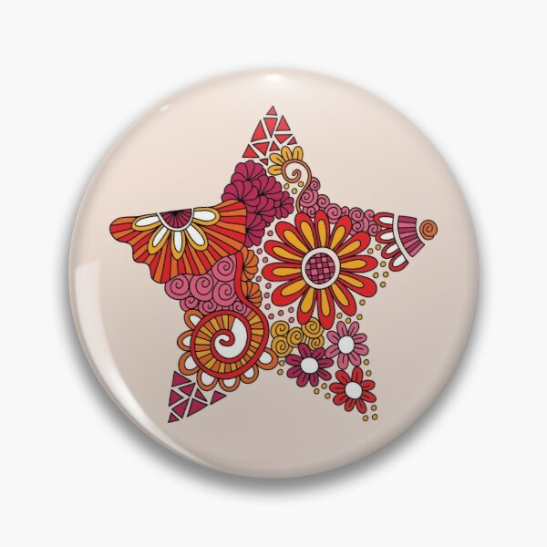 Bright Star Doodle Pin