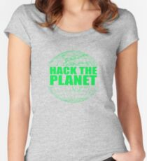Hack The Planet Women's Fitted Scoop T-Shirt