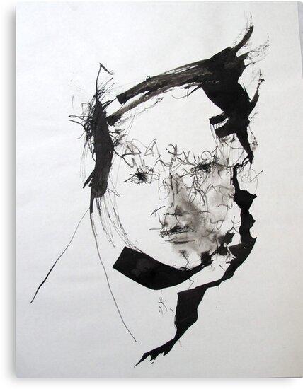 'Sumi Ink Painting' Canvas Print by Hannah Mickunas
