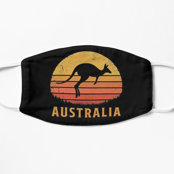 Australia Retro Kangaroo Flat Mask