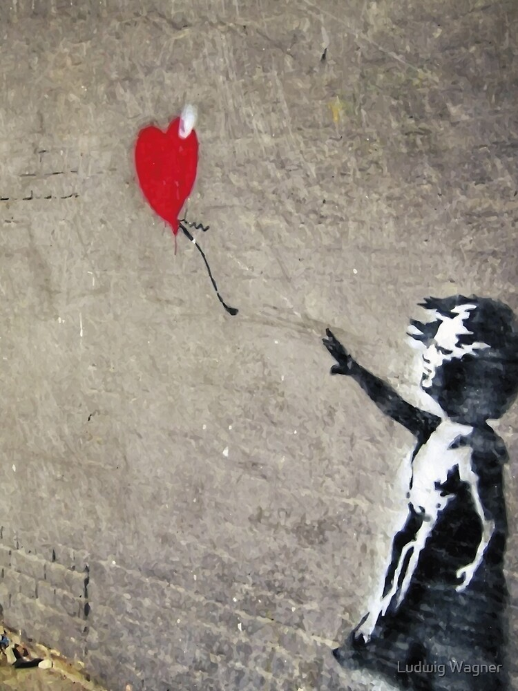Banksy's Girl with a Red Balloon II by zuluspice