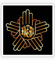 Symbol of Jainism in gold  Sticker