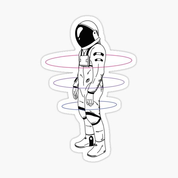 Subtle Bisexual Astronaut LGBTQ+ Pride Sticker