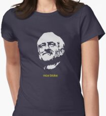 Jeremy Corbyn 'nice bloke' Women's Fitted T-Shirt