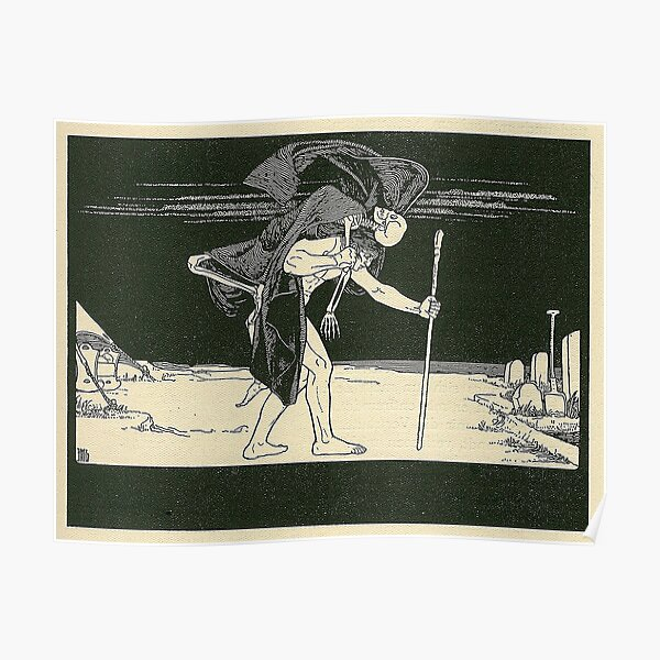 HD. Dybbuk, by Ephraim Moses Lilien Poster