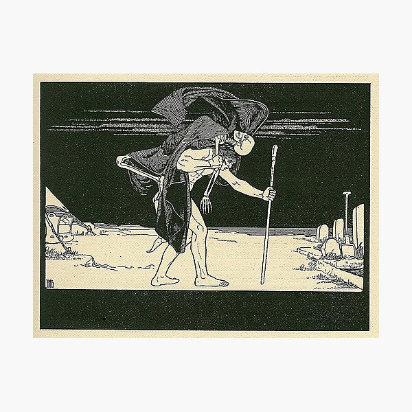 HD. Dybbuk, by Ephraim Moses Lilien Photographic Print