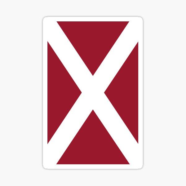 Hearts Scottish Saltire Sticker