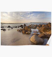 Dampier beach Poster