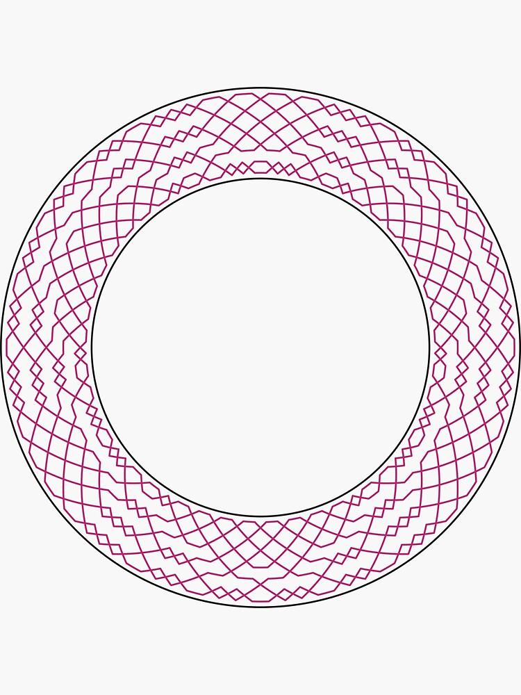 London Surprise Major Method Wreath — Stickers (Red) by RingingRoom
