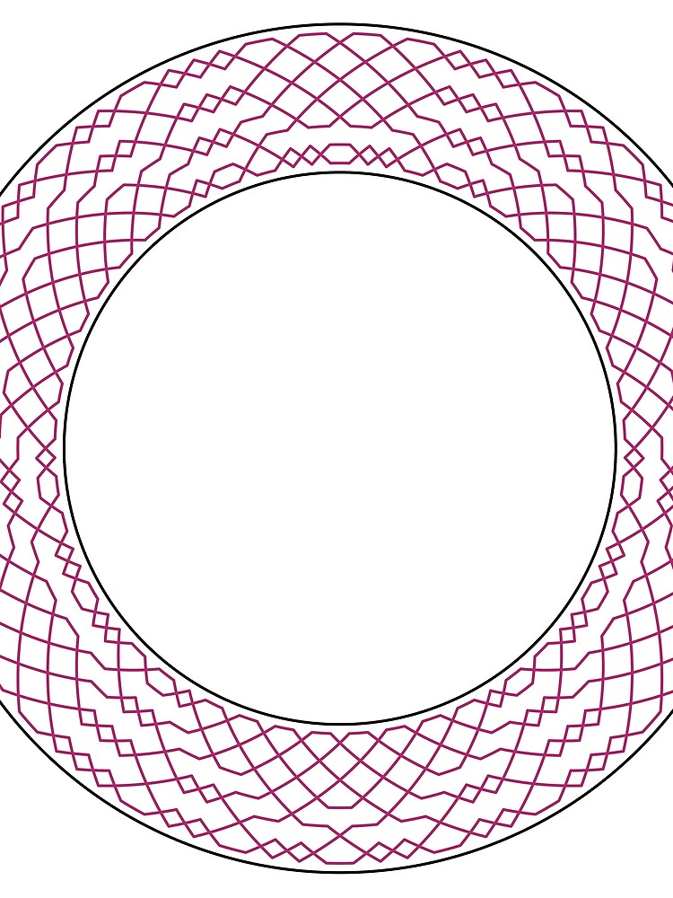 London Surprise Major Method Wreath — Scarf (Red) by RingingRoom