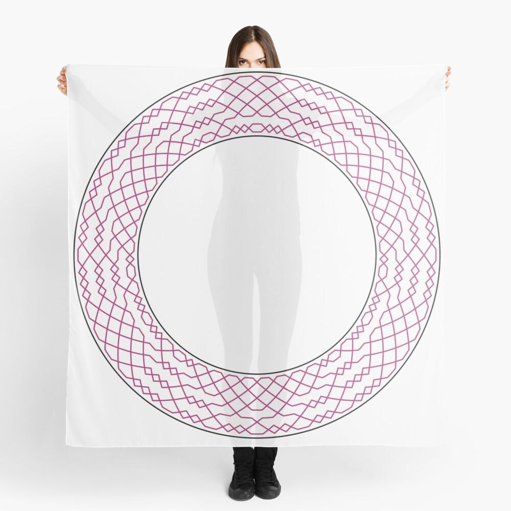London Surprise Major Method Wreath — Scarf (Red) Scarf
