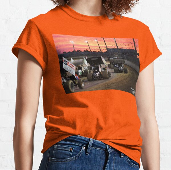 Sunset at the Speedway track. Classic T-Shirt