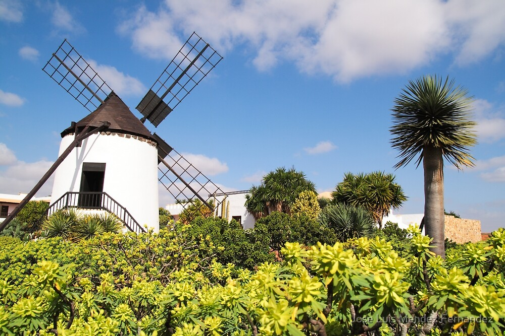 windmill in Lanzarote by Atman Victor