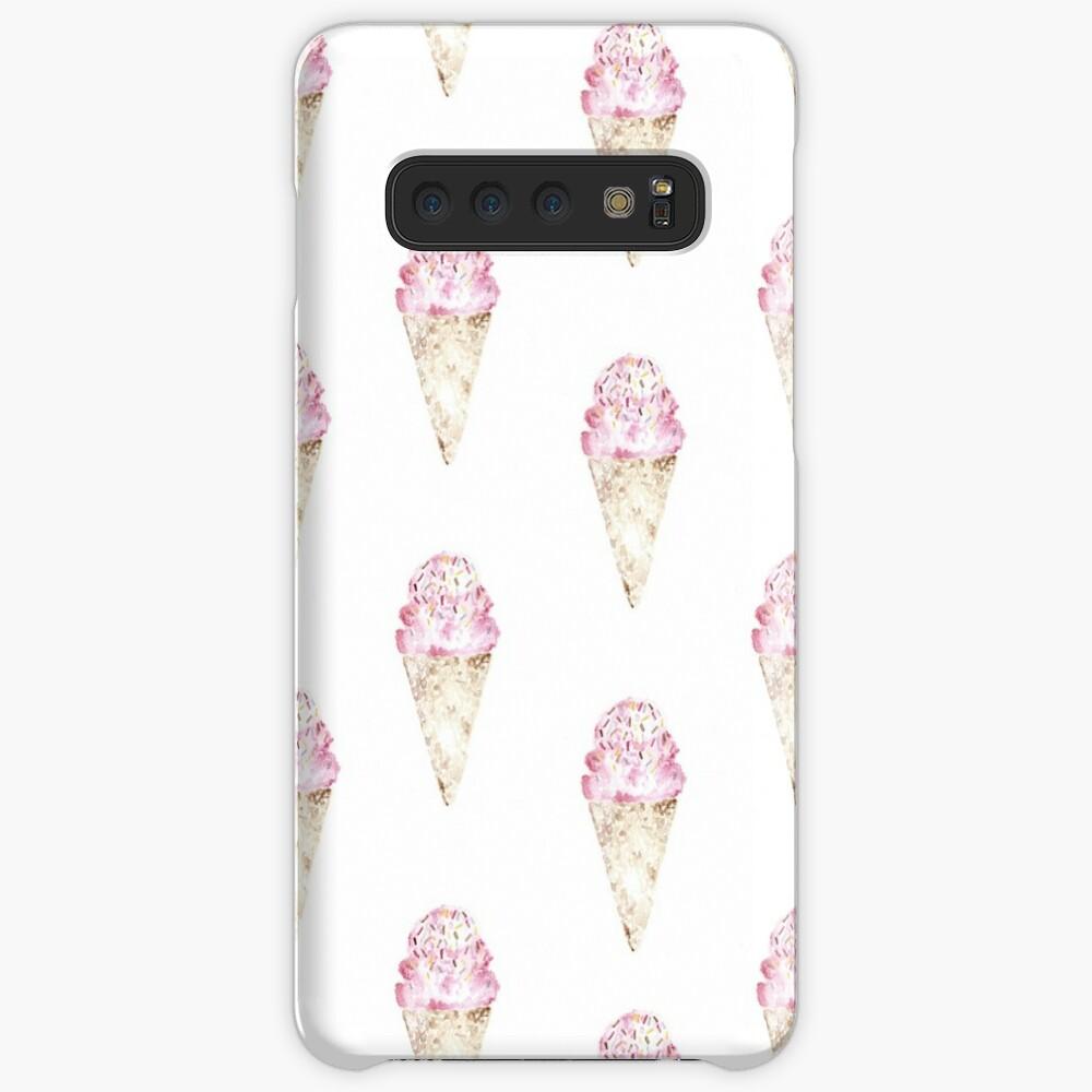 Pink Ice Cream Pattern Funda y vinilo para Samsung Galaxy