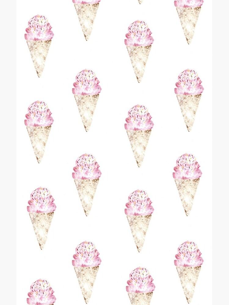 Pink Ice Cream Pattern de katiepaints