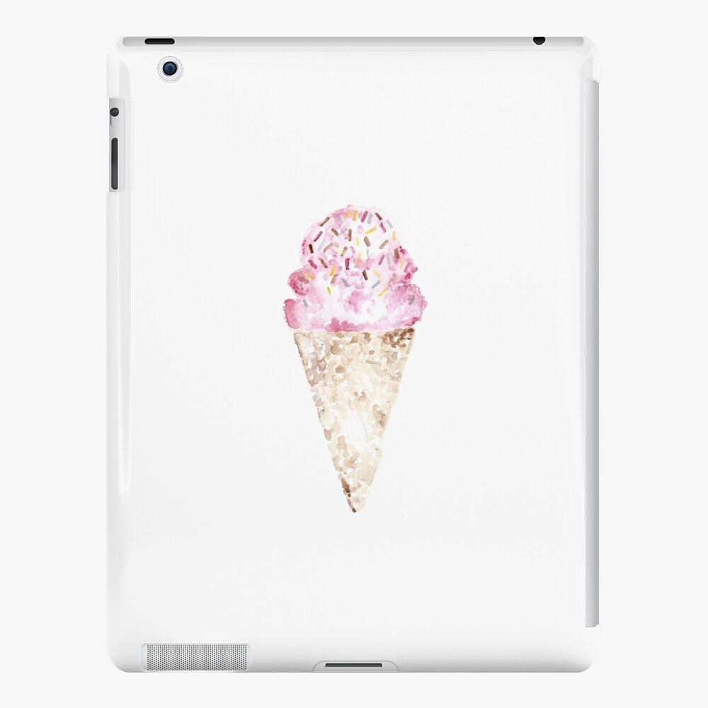 Pink Ice Cream Pattern Funda y vinilo para iPad
