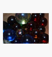 Illuminated Marbles Photographic Print