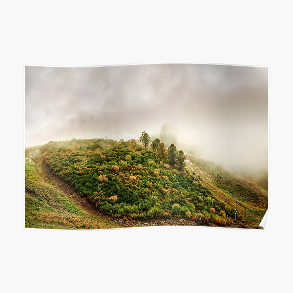 Autumn valley in the cloud Poster