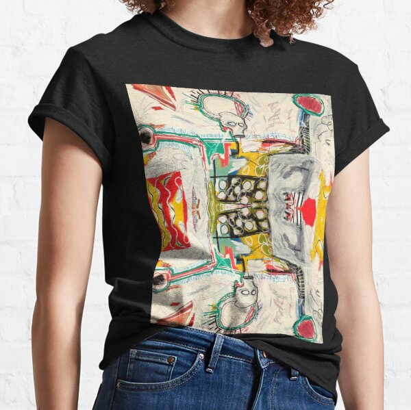Digitally modified, treated and reworked famous New York street art / pop art from the 70s. Classic T-Shirt