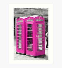 Pink Telephone Box  Art Print