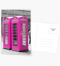 Pink Telephone Box  Postcards