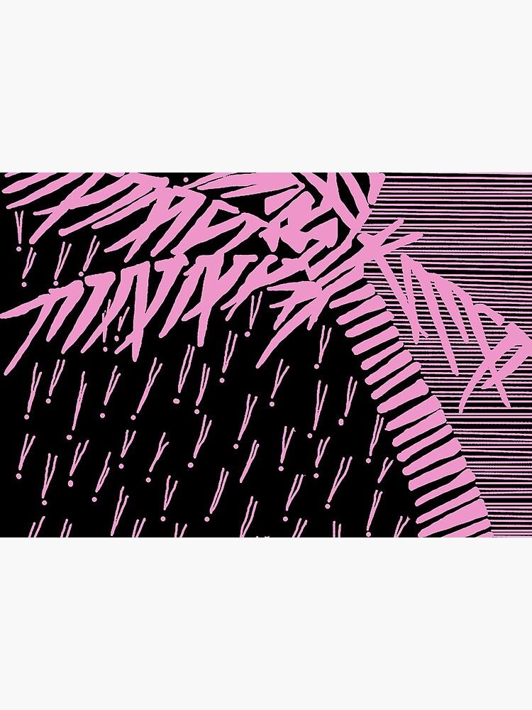 Tropical Rain Cuba Pink on Black by hoxtonboy