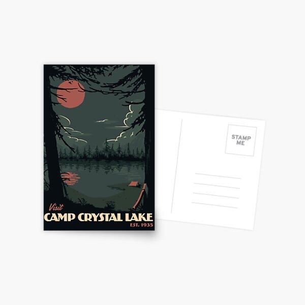Visit Camp Crystal Lake travel poster Postcard