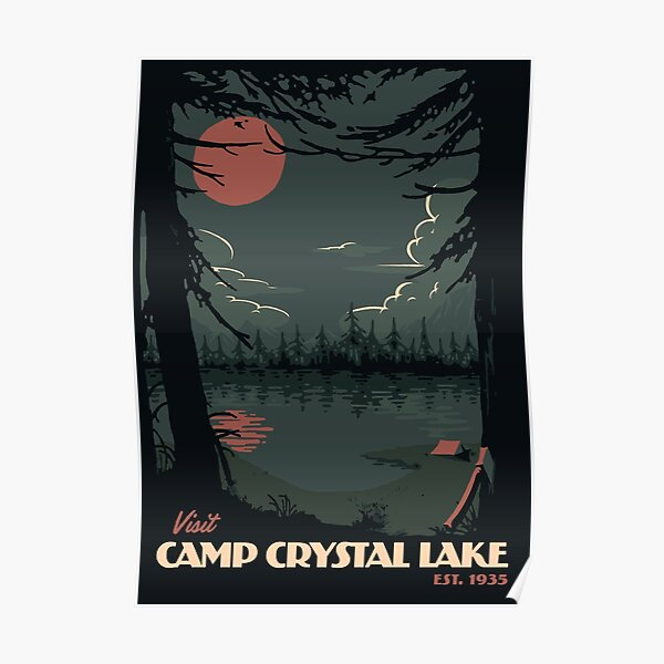 Visit Camp Crystal Lake travel poster Poster