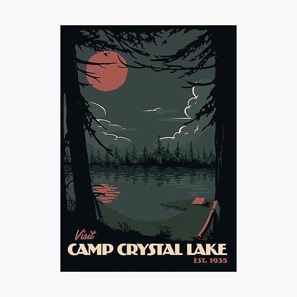 Visit Camp Crystal Lake travel poster Photographic Print