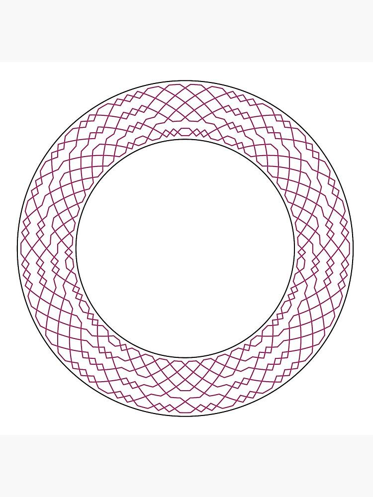 London Surprise Major Method Wreath — Coasters (Red) by RingingRoom