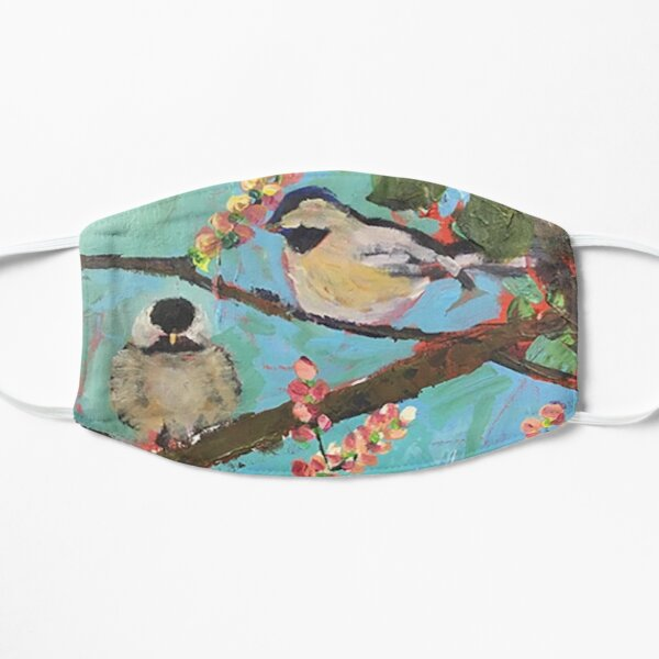 Two Chickadees Mask