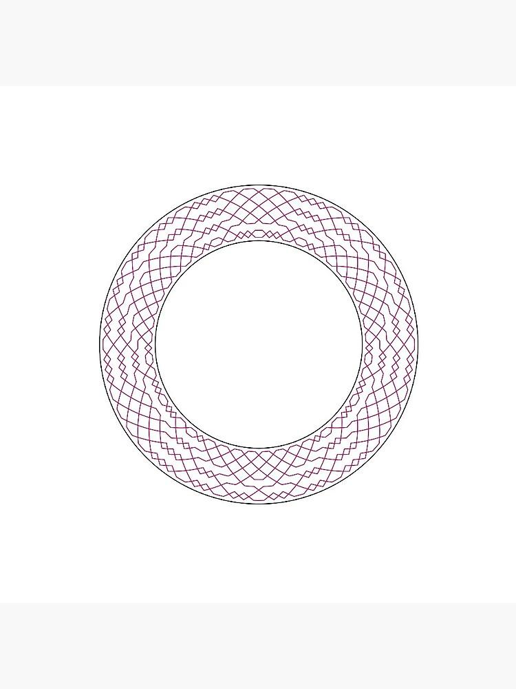 London Surprise Major Method Wreath — Pin (Red) by RingingRoom