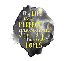 My Life is a Perfect Graveyard of Buried Hopes Photographic Print