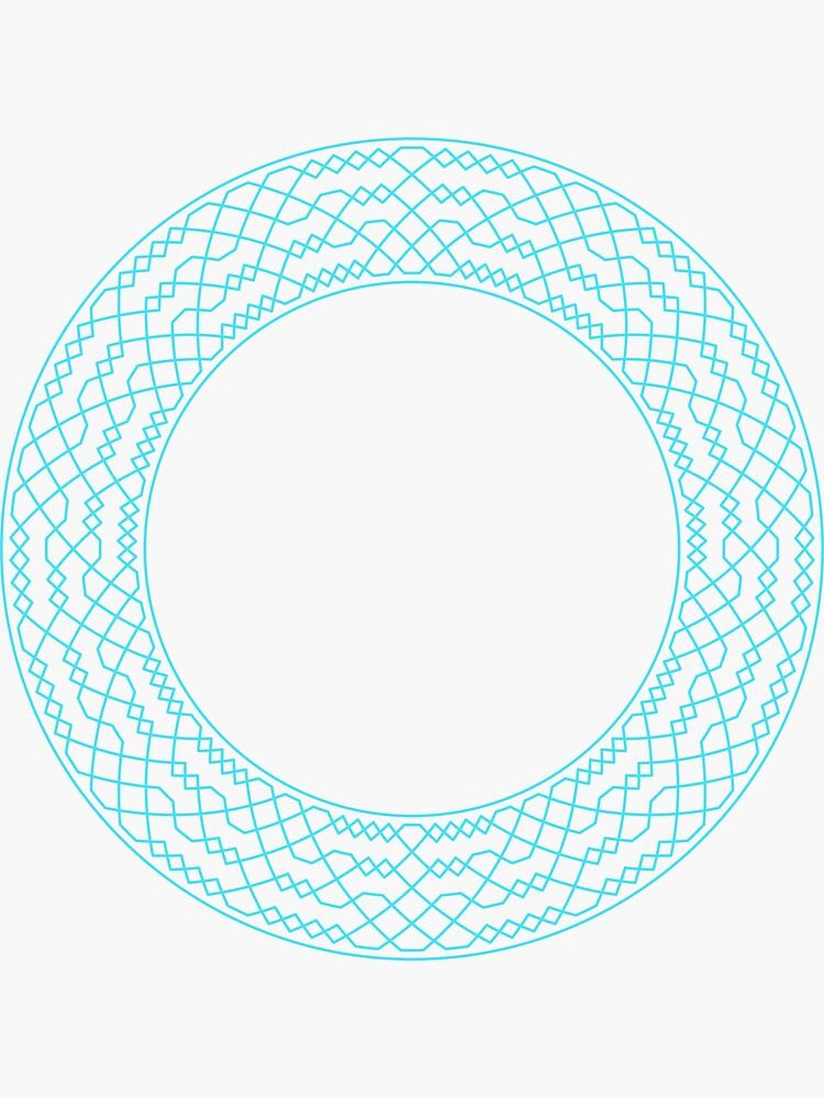 Double Norwich Court Bob Major Method Wreath — Stickers (Blue) by RingingRoom