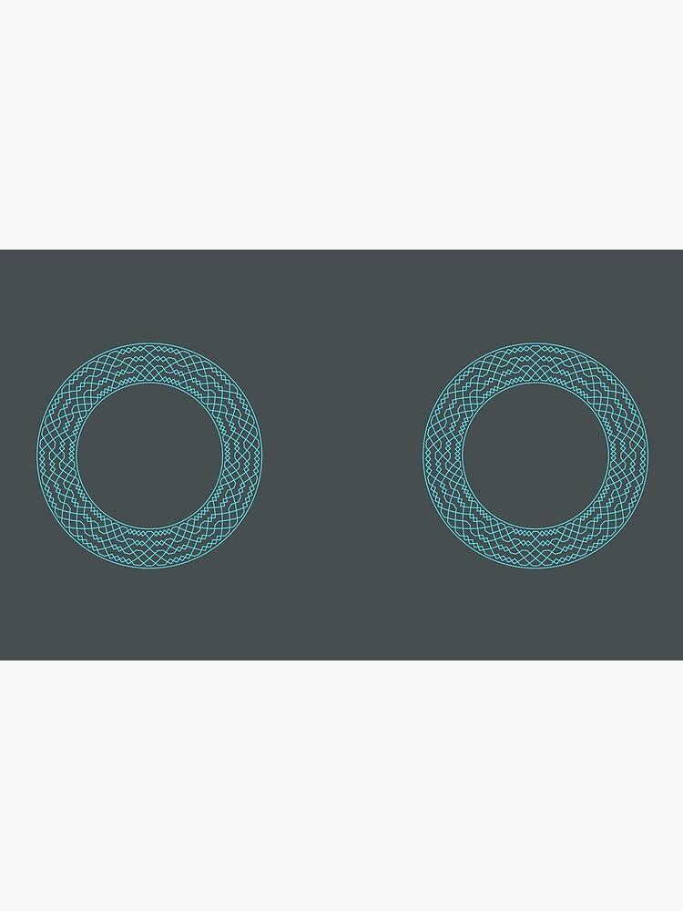 Double Norwich Court Bob Major Method Wreath — Mug (Blue) by RingingRoom