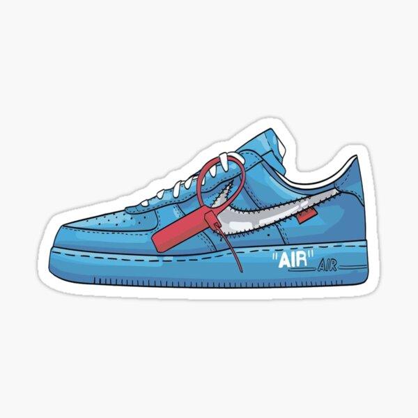 Blue X White Sneaker Sticker