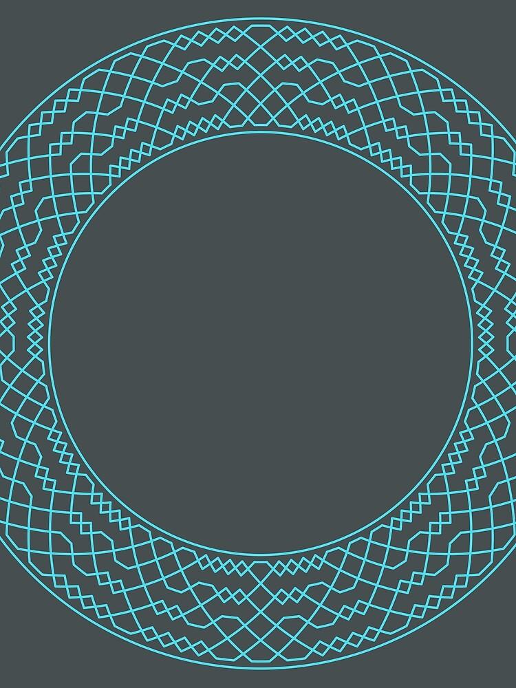 Double Norwich Court Bob Major Method Wreath — Scarf (Blue) by RingingRoom