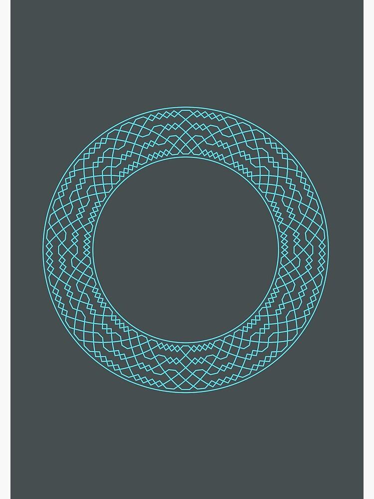 Double Norwich Court Bob Major Method Wreath — Notebook (Blue) by RingingRoom