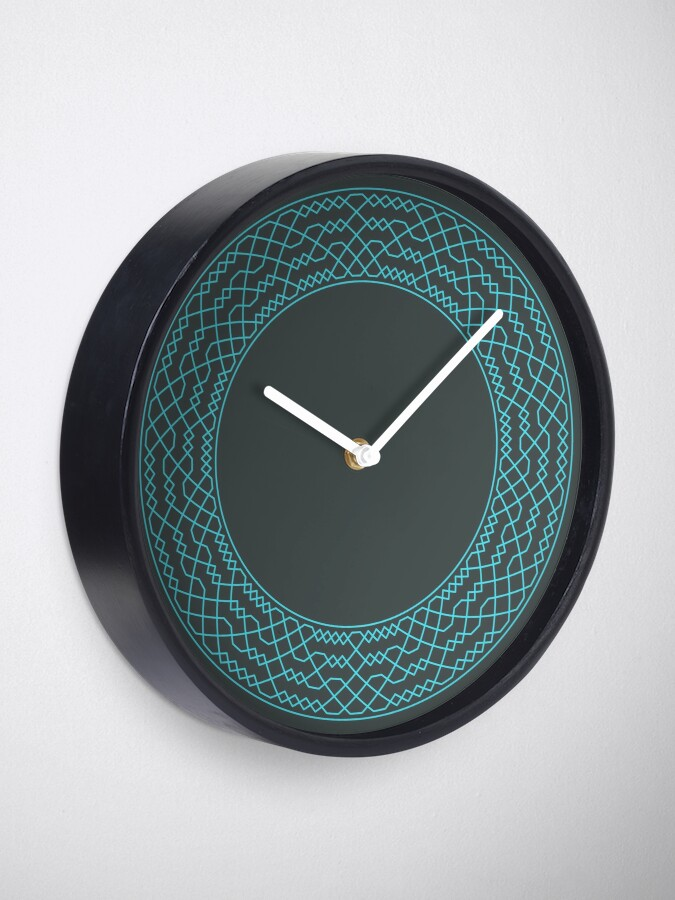 Alternate view of Double Norwich Court Bob Major Method Wreath — Clock (Blue) Clock