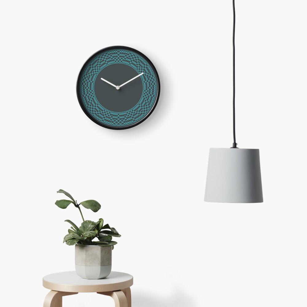 Double Norwich Court Bob Major Method Wreath — Clock (Blue) Clock